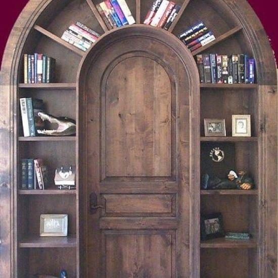 Unique storage and beautiful door