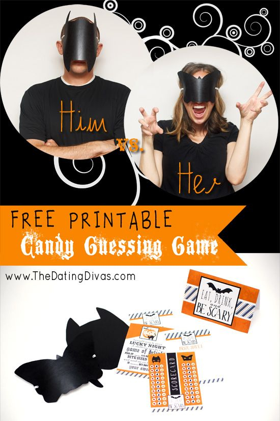 Finally found the PERFECTHalloween game just for US! www.TheDatingDiva... #freeprintable #halloween #coupleshalloweengame
