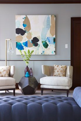 Chestnut Hill Residence Seating Area - Rachel Reider Interior Designs