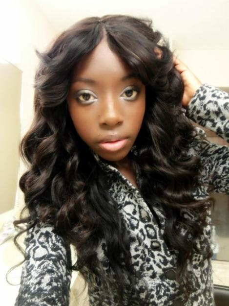 long flipped curly sew in : Malaysian remy hair weave