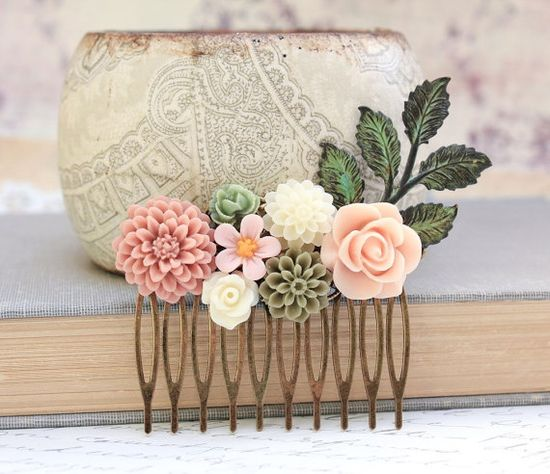 Flower Hair Comb Wedding Hair Accessories by #apocketofposies