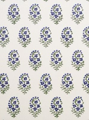 Clarence House Oui - Rouge French Blue $58.50 per yard #interiors #decor #fabrics