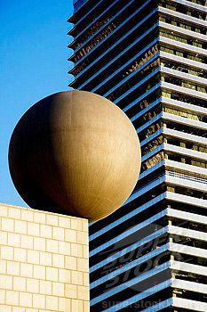 Modern architecture in Port Olimpic, Barcelona, Catalonia