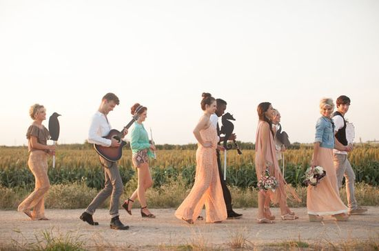 A Wedding Parade - love this idea for after the ceremony and to the reception :)