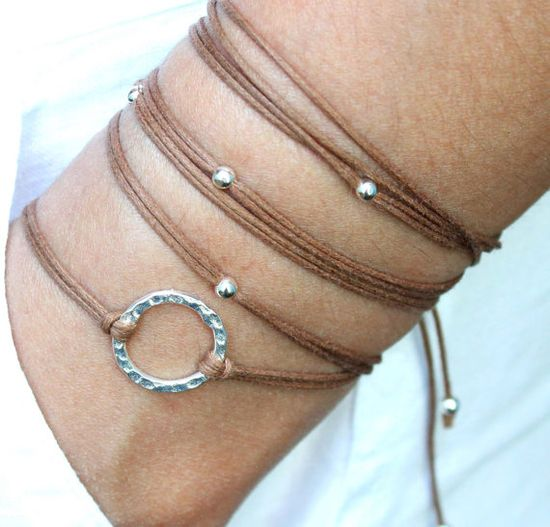 BOHO Beach Wrap Bracelet  Chocolate  Infinity by Wrappedinyou, $9.50