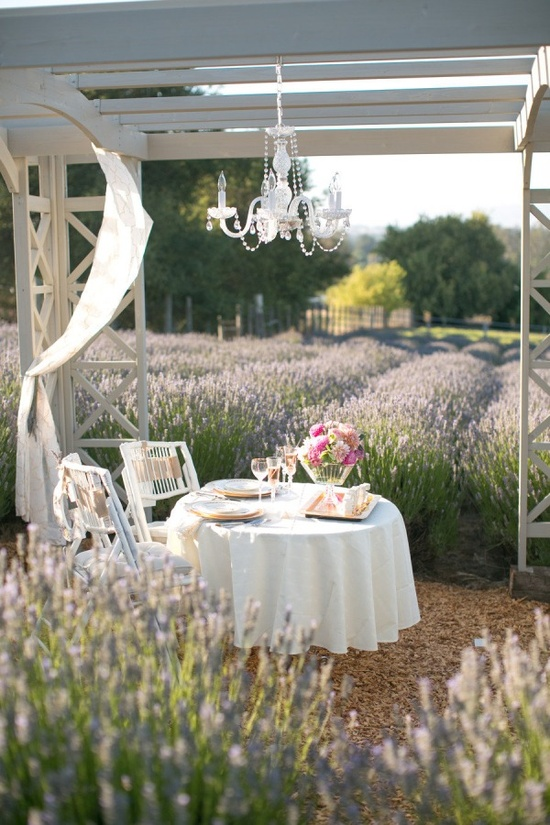 private table between lavender