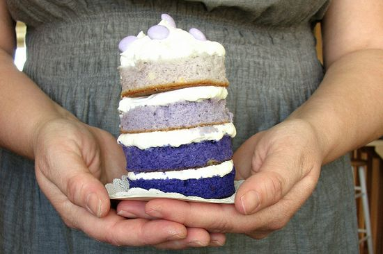 cute mini lavender cake
