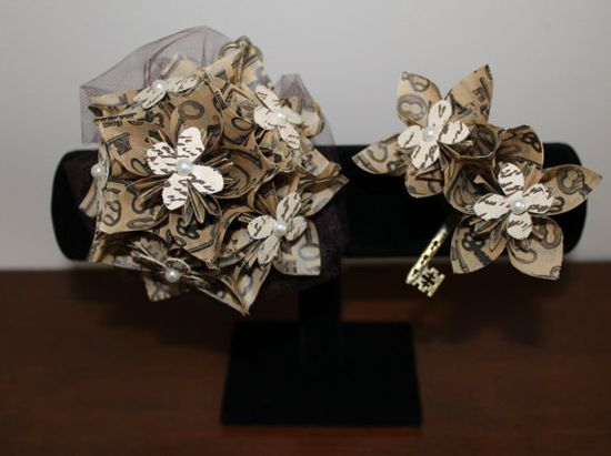 SteampunkInspired Corsage & Boutonnière  by EverBloomsFlowers, $32.00