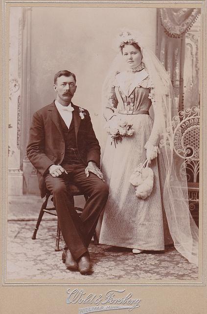 vieille photo de mariage