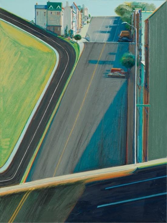 Wayne Thiebaud ~ Down Penn Street, 1978 (oil)