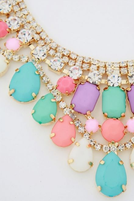 pastel bib necklace