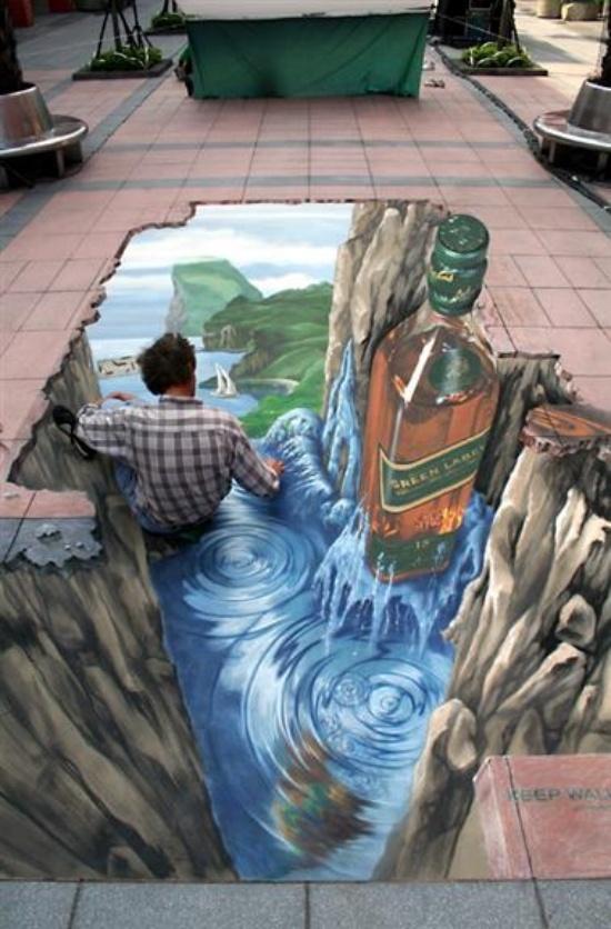 Amazing 3D street art..... WOW !