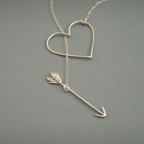 Heart and Arrow Necklace. $55.00
