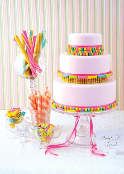 Candy Shop Wedding Cake