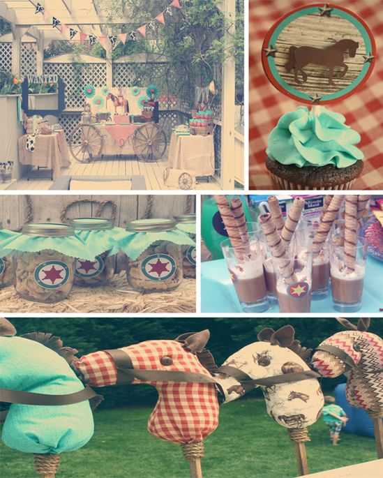 Vintage Cowboy First Birthday Party with TONS of CUTE Ideas via Kara's Party Ideas