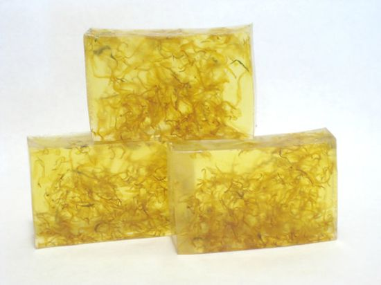 Glycerin Soap, Yuzu, Calendula Soap, Handmade Soap, Sparkling Grapefruit, Soothing Soap