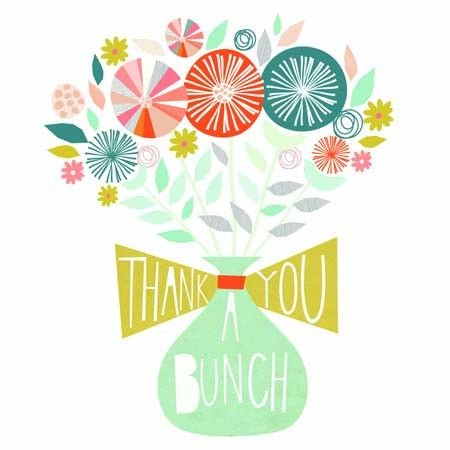 Thank You Greeting Card- Bouquet of Flowers - Southwood stores