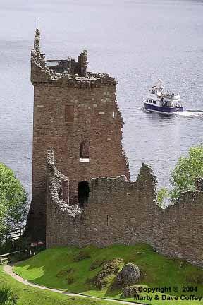 Schotland, Invernes, Loch Ness, Urquhart Castle.