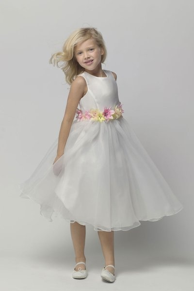cute flowergirl dress. If it came with a headband that matched the belt, it would be perfect!