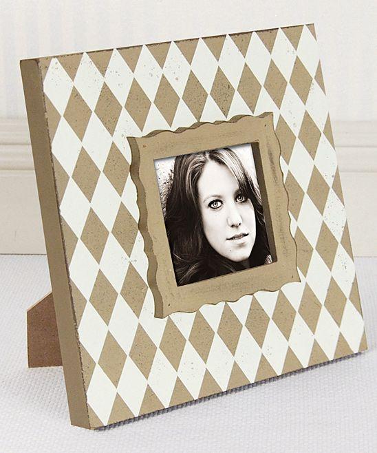 White & Gray Diamond Frame