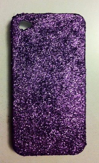 Purple Glitter iPhone 4 4s Hard Cover Case by kaylafenton on Etsy, $10.00