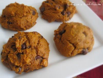 Pumpkin Chocolate Chip Cookies. Easy and make these EVERY YEAR!! LOVE THEM!