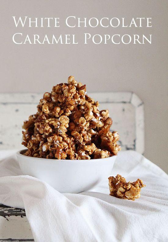 Savory White Chocolate Caramel Popcorn