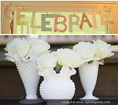 Who is using milk glass vases? Post your pics/inspirations! « Weddingbee Boards