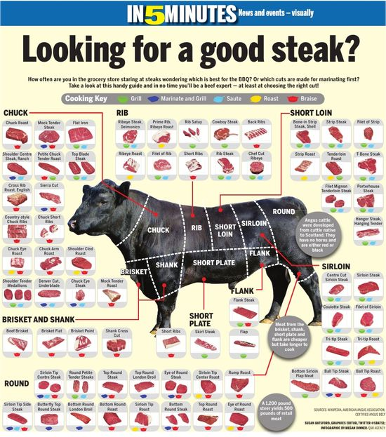 Quick guide to beef cuts