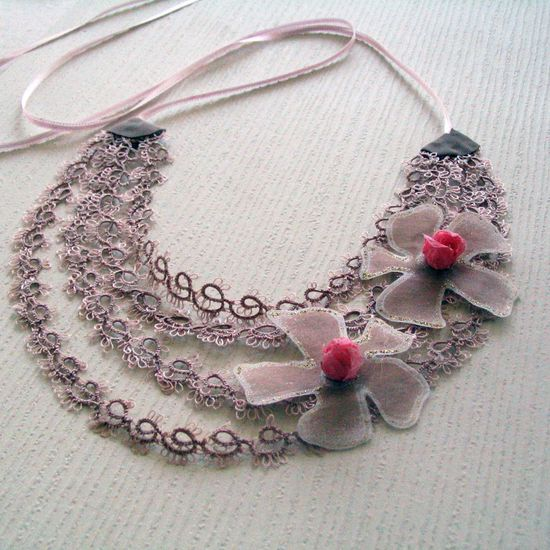 Statement Necklace Made with Tatting Lace. INSPIRATION
