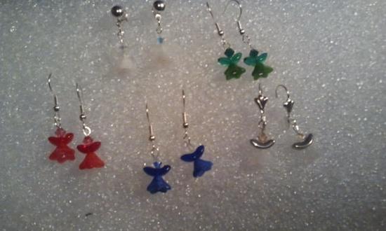 Angel Swarovski Rainbow Earrings by URStyleJewelry on Etsy, $15.00