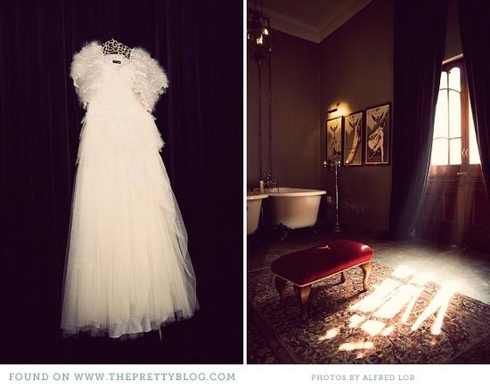 Soft & romantic wedding dress