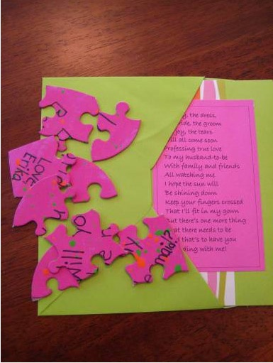 Will you be my bridesmaid puzzle!