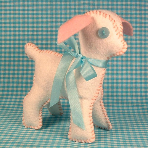 Lambkin, felt stuffed animal