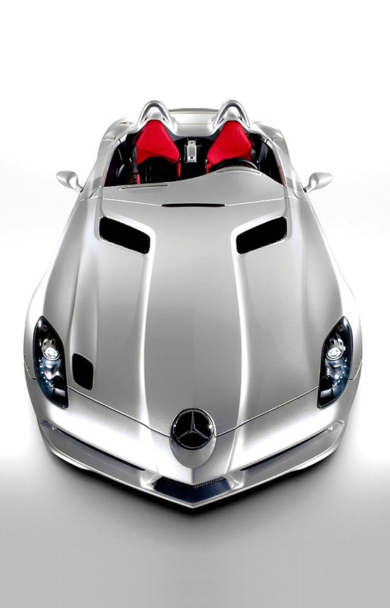 ? Silver car with red sitting The Stirling Moss SLR from stirlingmossslr.p...