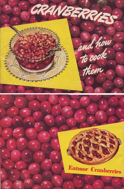 There's no mistaking what this fun little 1940s recipe book was for! :) #cranberries #recipes #book #cookbook #1940s #forties #food #Thanksgiving #vintage