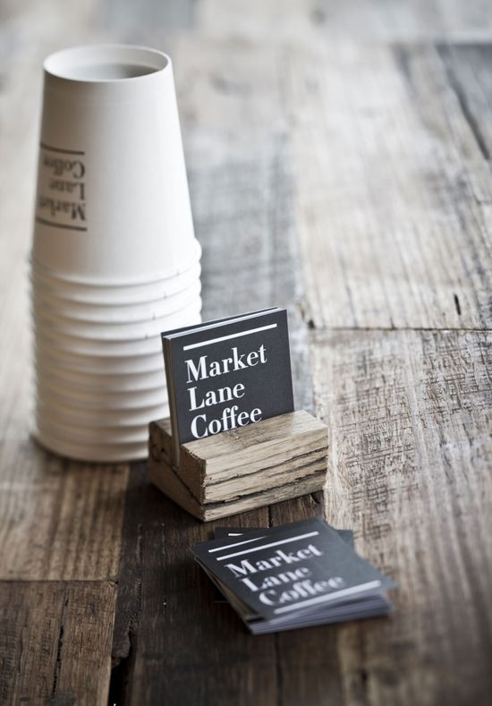 Love the square shape of these business cards...