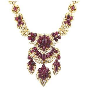 Rubies and Diamond Necklace.