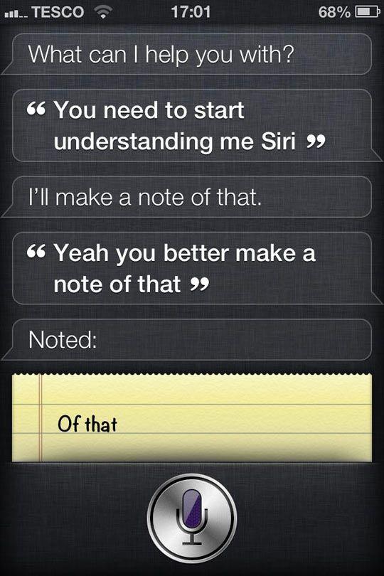 Siri has an attitude problem…
