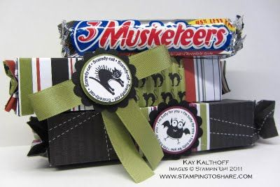 Extended Stampin Up candy wrapper die