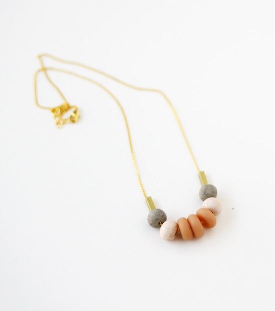 nude pink and grey necklace ($36.00)
