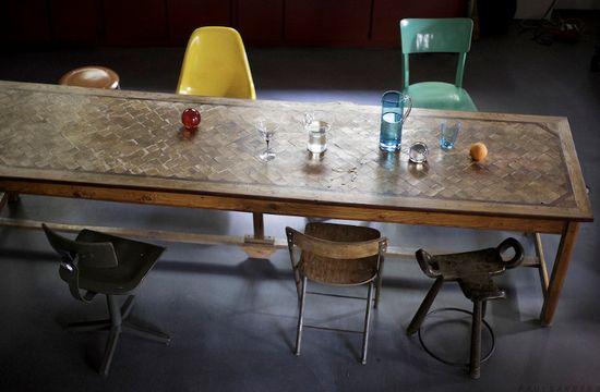 #dinner #table #chair #vintage #retro