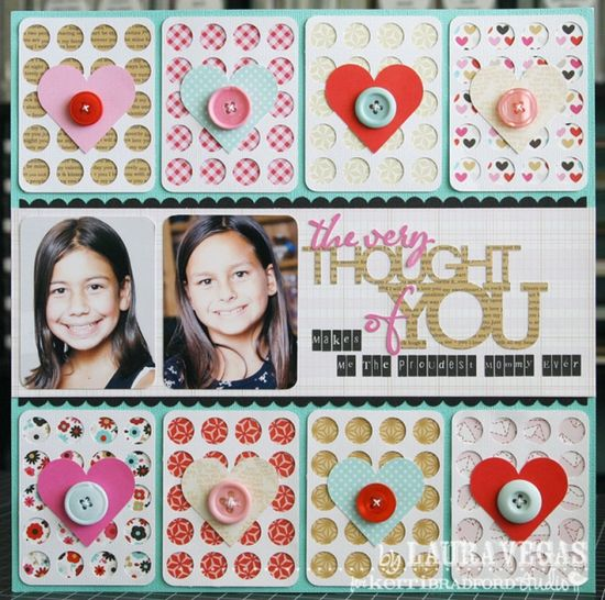 #papercraft #scrapbook #layout The Very Thought Of You