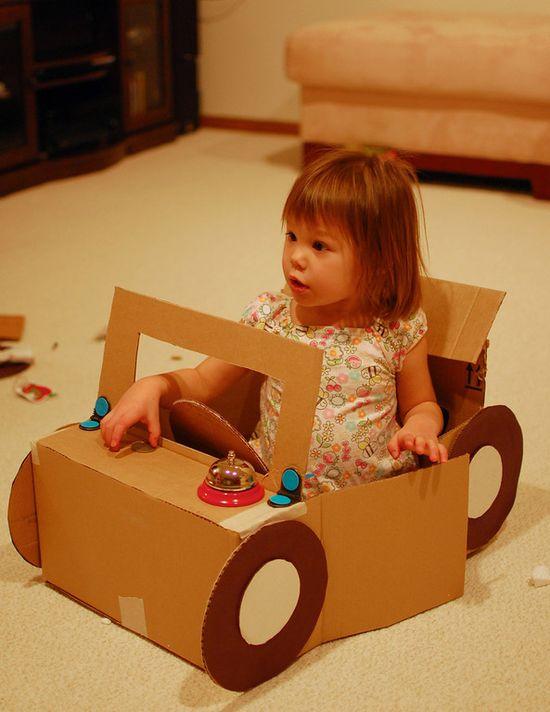 "Cardboard car ("",)"
