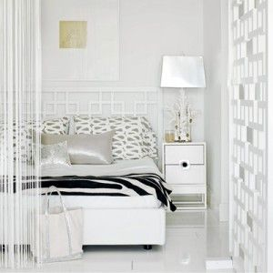 White Glam Bedroom with Animal Print