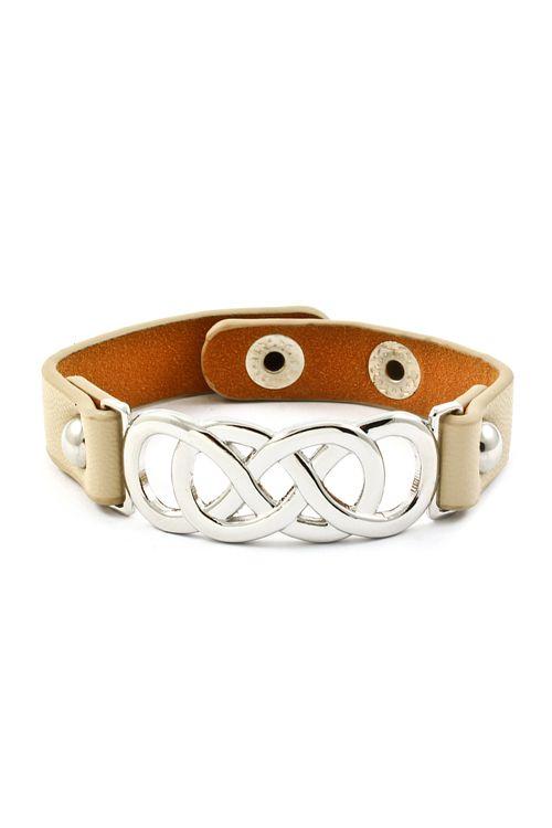 Triple Infinity Bracelet in Ivory