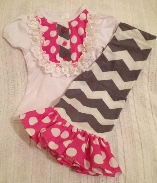 NeW iTeM SaLE PINK GRAY CHEVRON Girl Baby by BabyCakesByBella, $45.45 #chevron #baby #rufflepants #princess #party #birthday