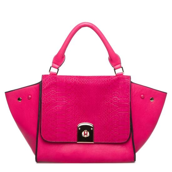 Hot pink handbag