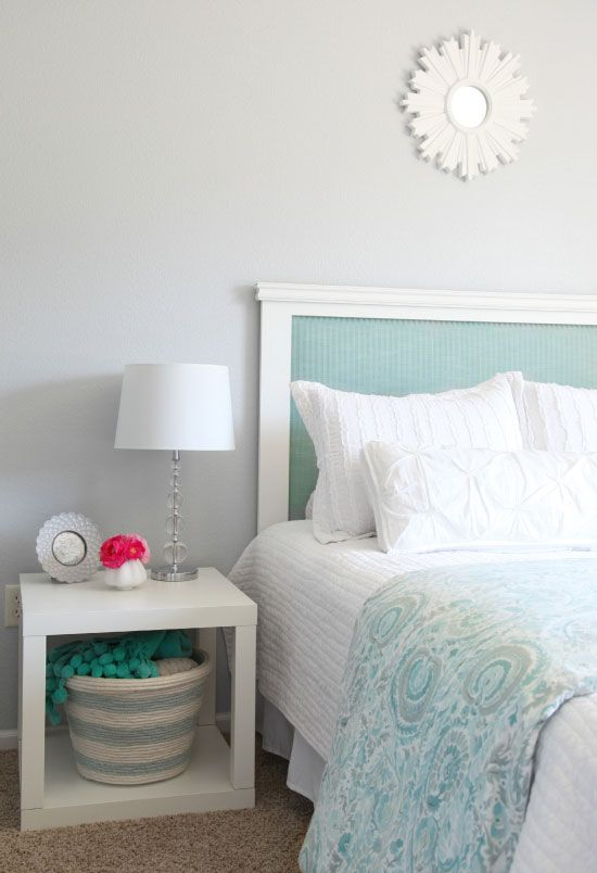 IHeart Organizing: IHeart My Home - Home Tour!  love this headboard!