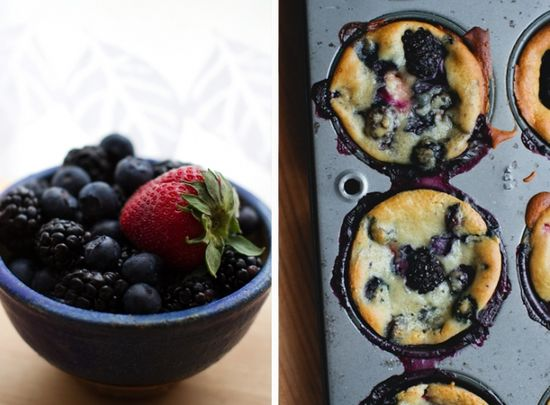 Honey, Ricotta and Berry Muffins